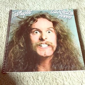 Ted Nugent Cat Scratch Fever album notebook